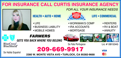 Farmers Insurance Group-Curtis Insurance Agency, Turlock ...