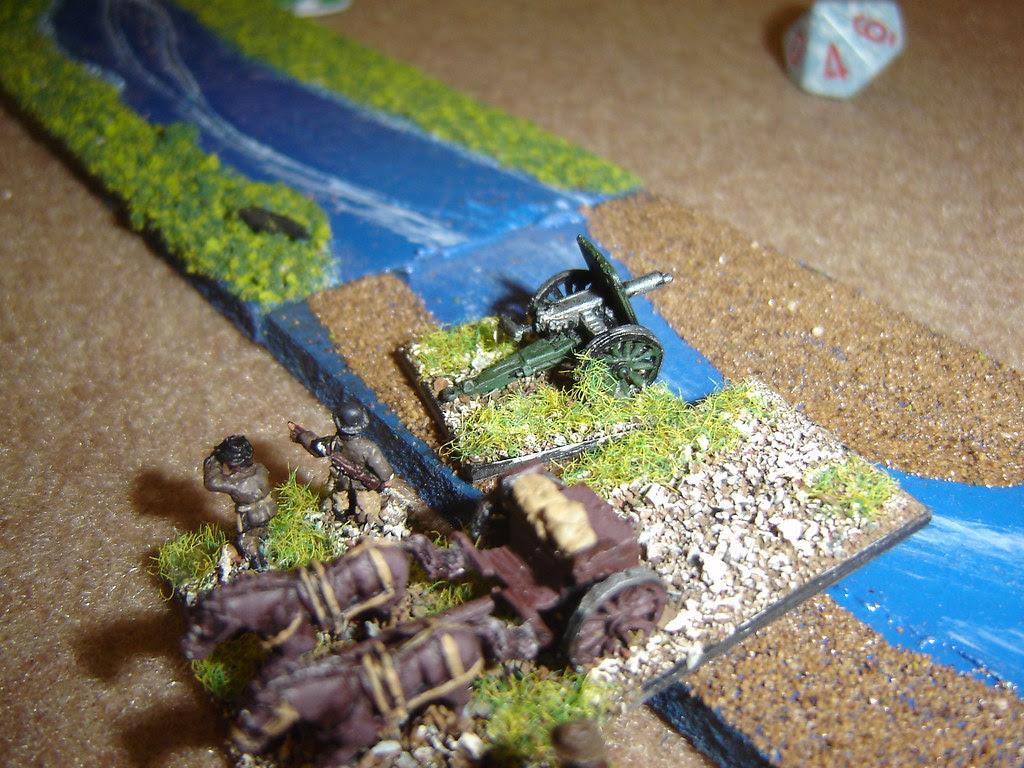 Field Gun brought across ford