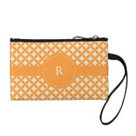 Pattern Monogram Coin Wallet