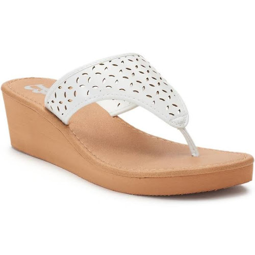 Dana Buchman Perforated Hood ... Thong Wedge Sandals best place online shop offer for sale buy cheap discount discount best sale outlet high quality uUOMkGe