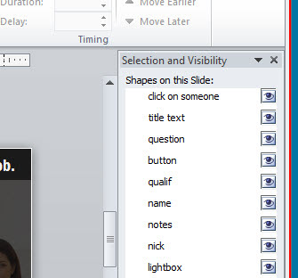 Articulate Rapid E-Learning Blog - PowerPoint's selection pane