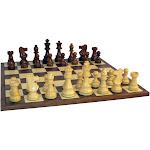 "Worldwise Imports 3.5"" Sheesham French Chess Set with Walnut Board"