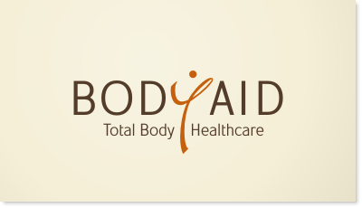BodyAid provides physical and massage therapy services to people who have been injured or who experience muscular pain logo design