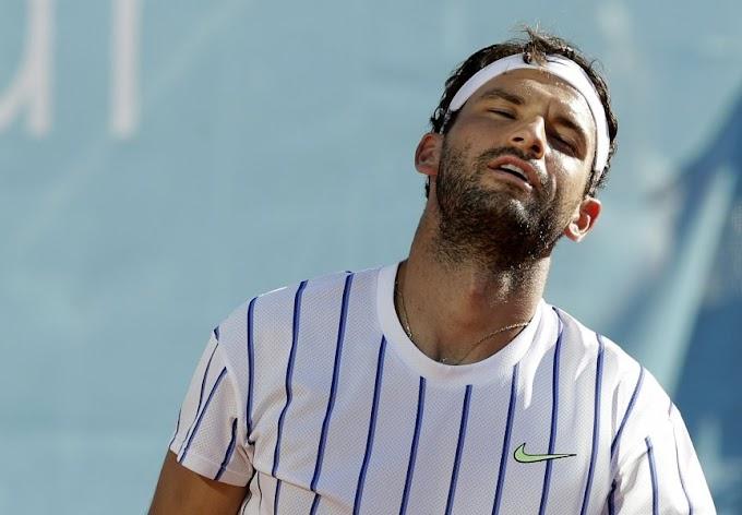 لاعب التنس ديمتروف يعلن إصابته بكورونا