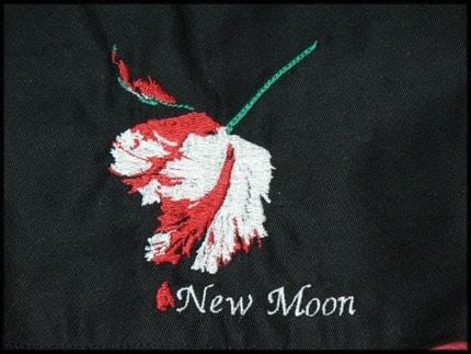 Little Sock Knitting Bag Twilight Inspired embroidery design