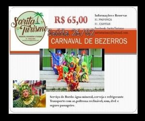 Banner publicidade excursão carnaval bezerros