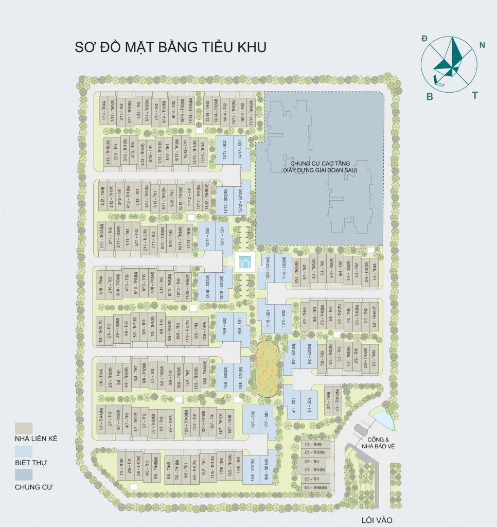 Phối cảnh tiểu khu Nadyne Gardens - Park City Hà Nội
