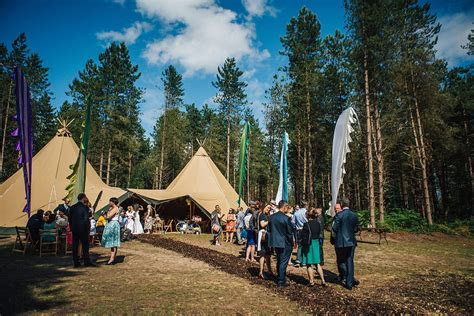 Tipi Delamere Forest Wedding   Fun outdoor wedding Cheshire