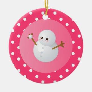 I Love Snow Ornament