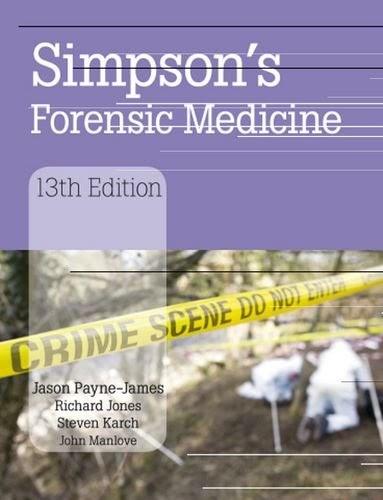 [PDF] Simpson's Forensic Medicine Free Download
