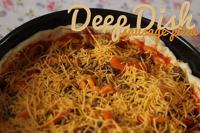 Deep Dish Sausage Pizza