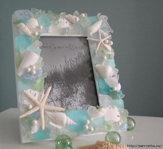 Красота из ракушек для интерьера ванной комнаты 25545
