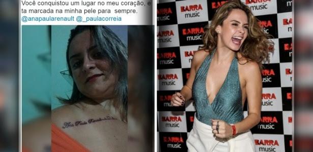 20.abr.2016 - Olha ela! Fã de Ana Paula mostra como ficou a tatuagem em homenagem à ex-BBB