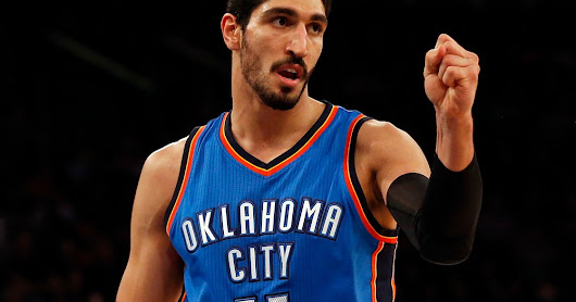 Thunder forward Enes Kanter fractures forearm punching chair