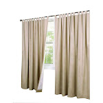 Thermalogic Weather Cotton Fabric Window Tab Curtain Panels Pair Khaki - 40 x 72 Khaki Solid
