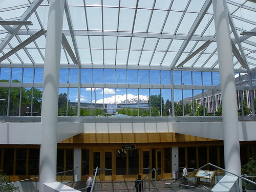Looking up to view - Brigham Young University Library, Provo, Utah