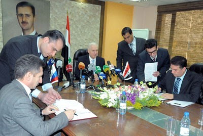 Syrian Petroleum Ministry signs oil drilling contract with Russian firm. The two nations have maintained close fraternal relations since the days of the Soviet Union. by Pan-African News Wire File Photos