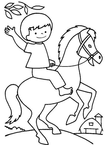 Cavallo Da Colorare Per Bambini.Disegni Da Colorare E Stampare Sui Cavalli Al Galoppo