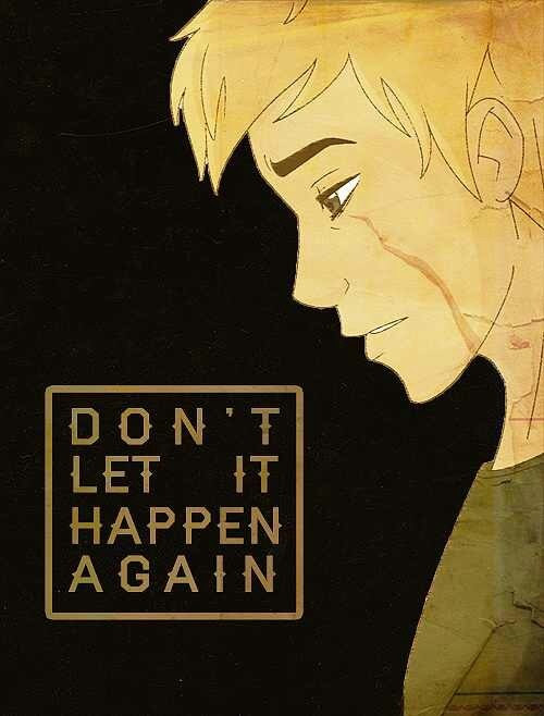 """Ethan. Me. All the unclaimed. Don't let it.... Don't let it happen again."" - Luke Castellan"