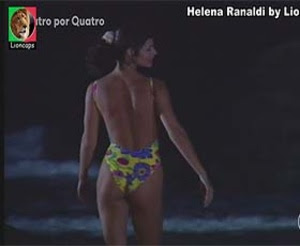 Helena Ranaldi sensual na novela 4 por 4