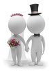 3d small people - wedding
