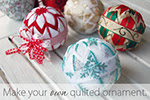 Quilted ornaments pattern