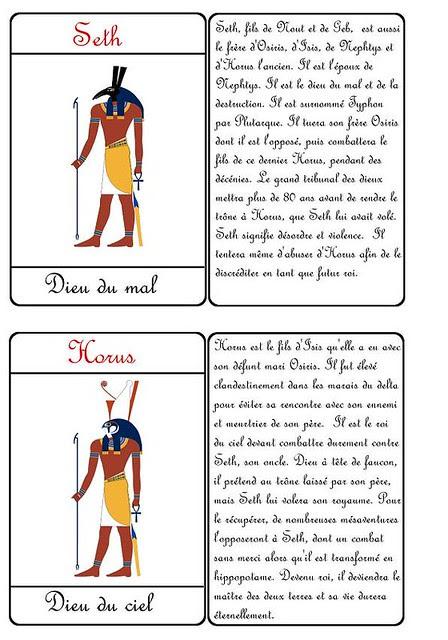 AAAAAAACartes Dieux Seth et Horus