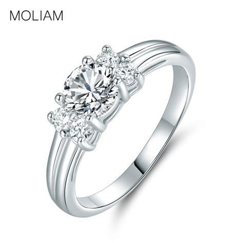 MOLIAM Best Quality Exquisite Rings for Women Silver Color
