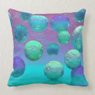 Ocean Dreams - Aqua and Violet Ocean Fantasy Pillows