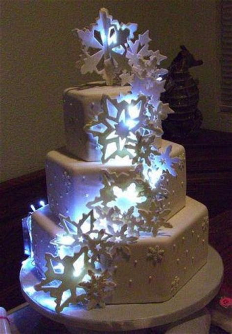 Wedding Cake with LED Lights great for evening wedding
