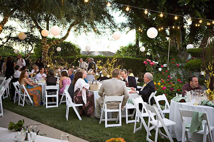 Outdoor Wedding Back Yard Reception Ideas
