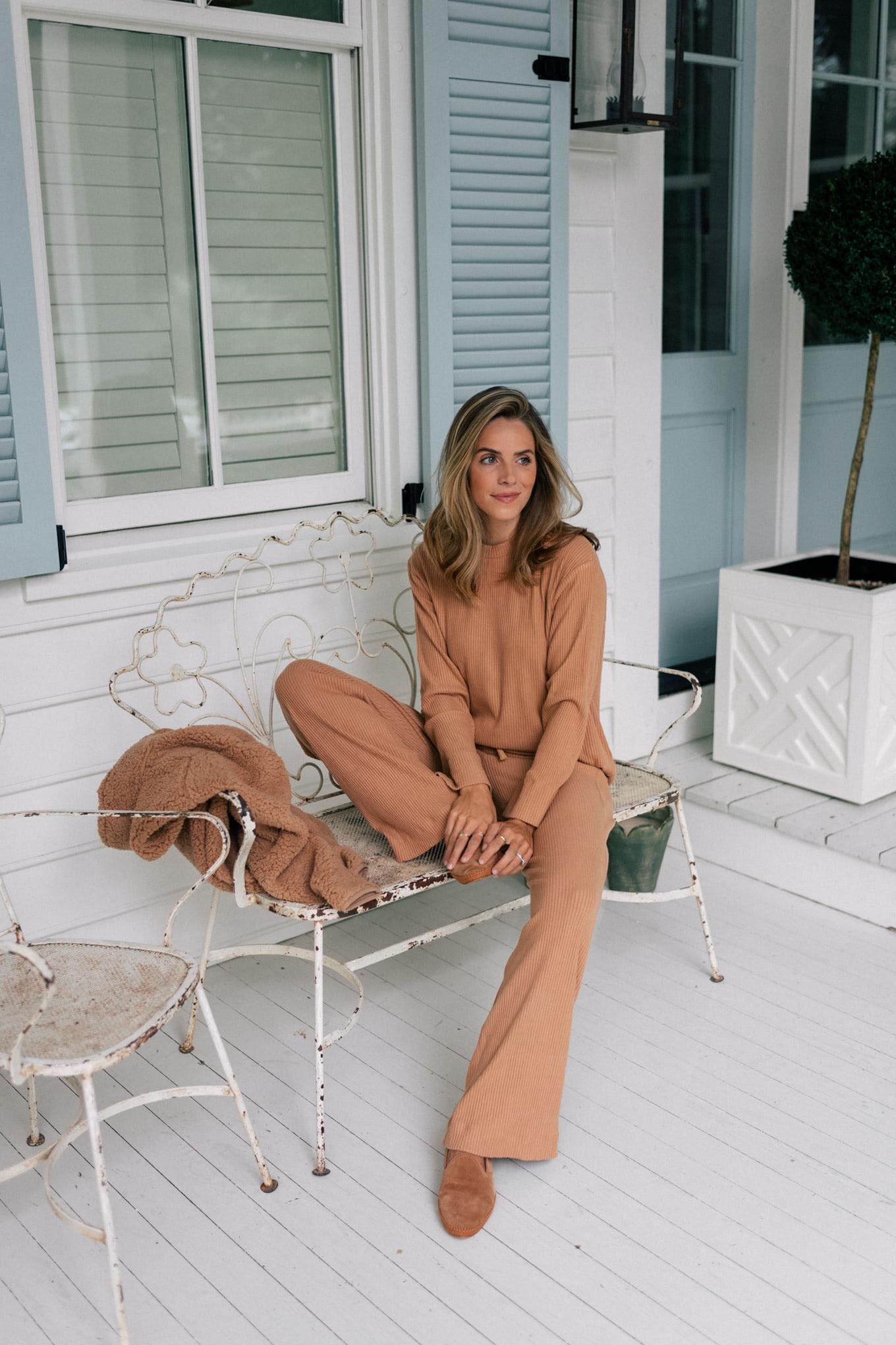 camel loungewear set