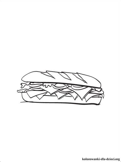 kanapka kolorowanka kolorowanki dla dzieci
