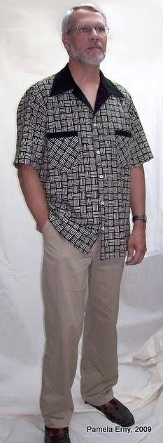 Roger Wearing New Shirt