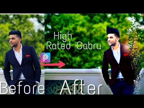High Rated Gabru || Get Handsome look on picsArt || Straight Hair || New PicsArt editing tutorial