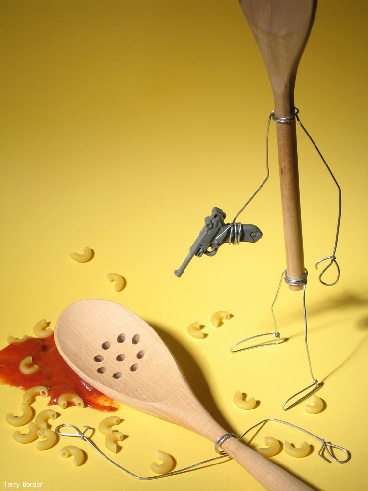 Funny bento objects by Terry Border- spoon pasta