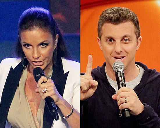 A cantora Ivete Sangalo e o apresentador Luciano Huck