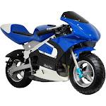 MotoTec Gas Pocket Bike (Blue)