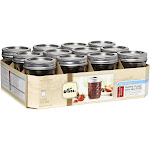 Kerr Half Pint Quilted Crystal Jelly Jars - 12 pack