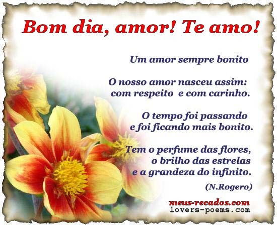 Bom Dia Amor Te Amo Orizanet Portal Gifs By Oriza Frases