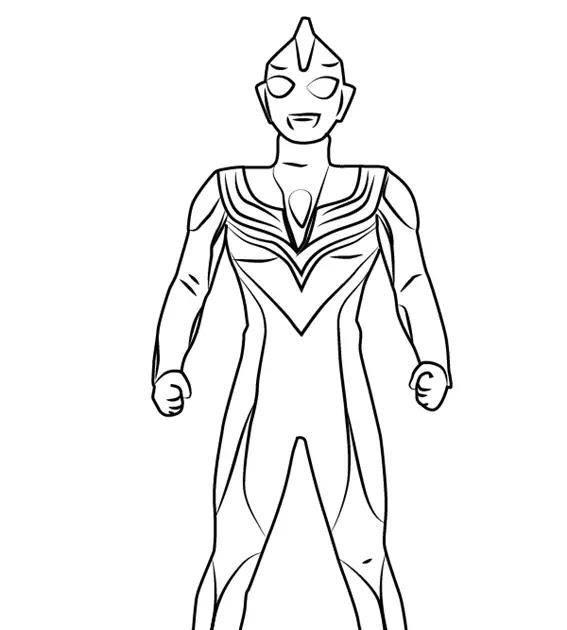 Mewarnai Ultraman Ribut  V Warna