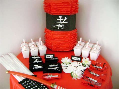 Asian Ninja Karate Chinese Japanese Birthday Party Ideas