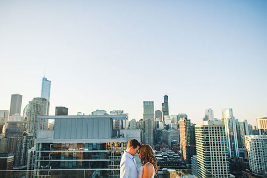 Rooftop Chicago Engagement Session // Aubyn + Danny