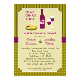 Wine Tasting Couple's Bridal Shower Invitation