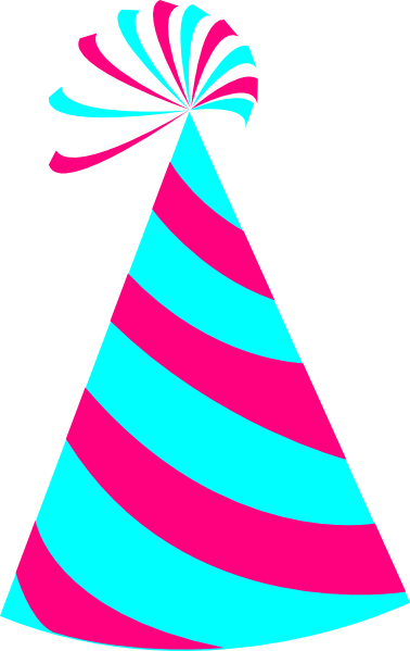Pink And Blue Party Hat Clip Art at Clker com vector