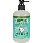 Mrs Meyers Soap, Liquid Hand, Basil Scent - 12.5 fl oz