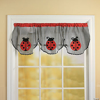 Ladybug Valance, Rugs and Window Treatments, Home Decor - Terry's ...