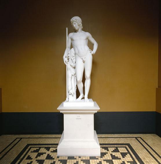 Jægeren Adonis, marmorskulptur, A 790