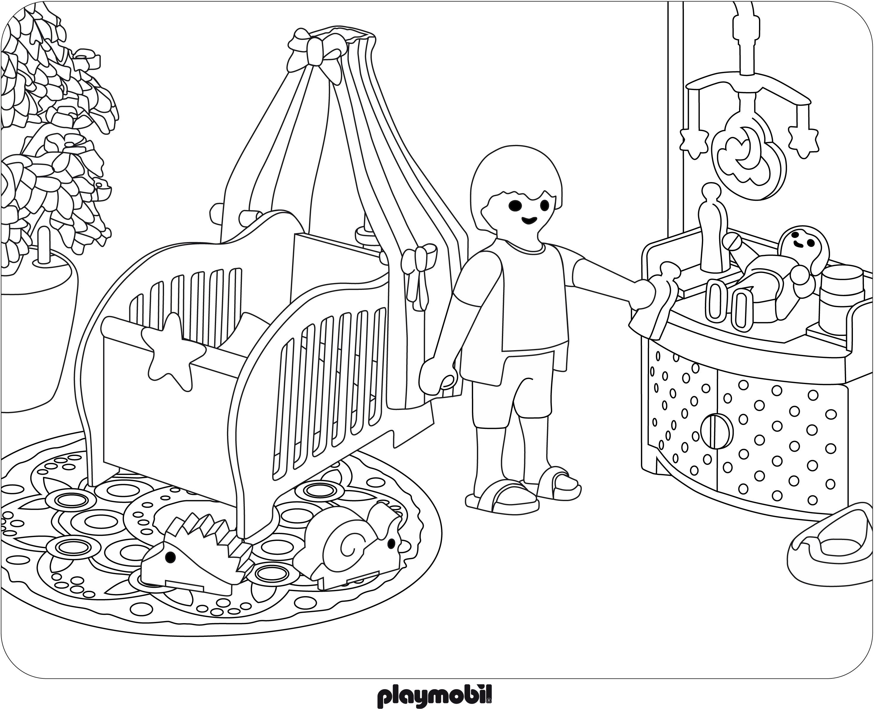 Coloriage Playmobil Jouet à Imprimer