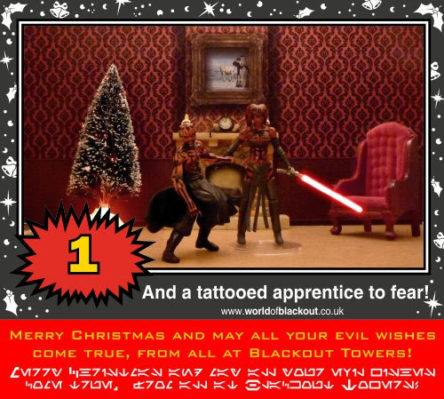 On the twelfth Wookiee Life Day, the Dark Side gave to me: A tattooed apprenctice to fear!